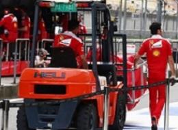 Вилочные погрузчики HELI на Formula 1...